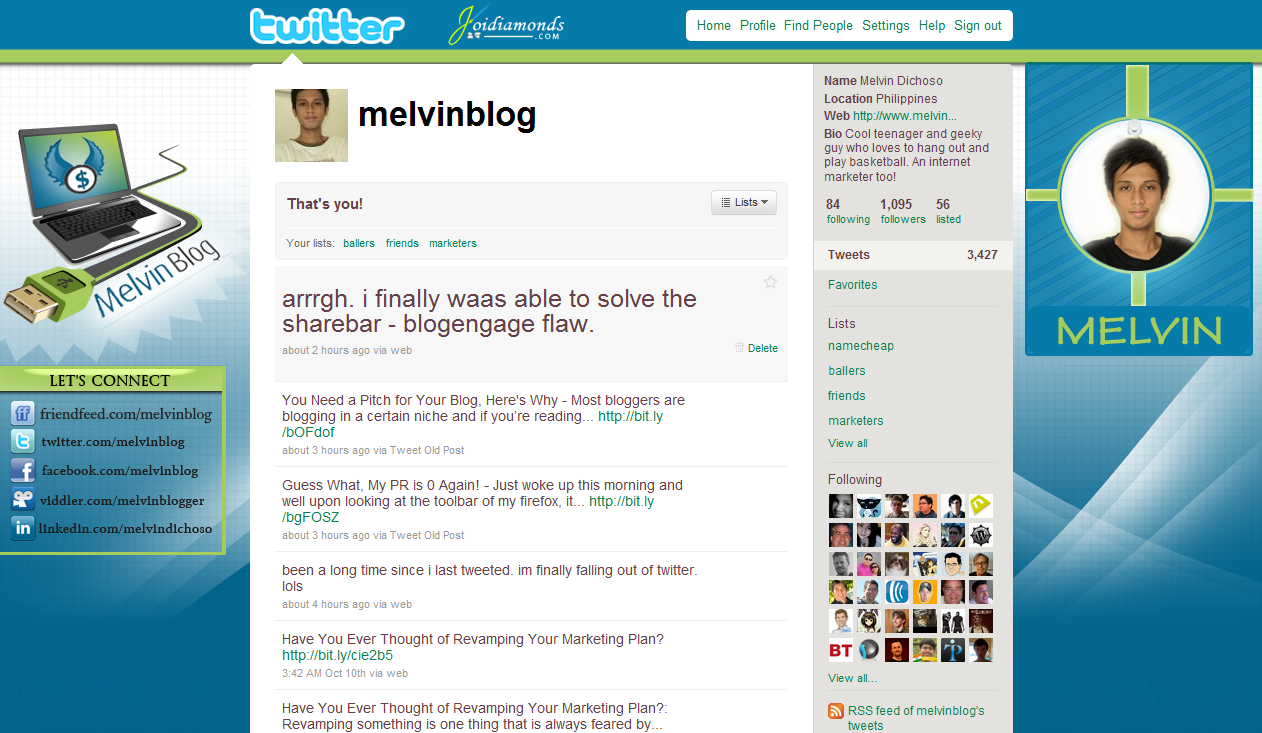 melvinblog twitter background