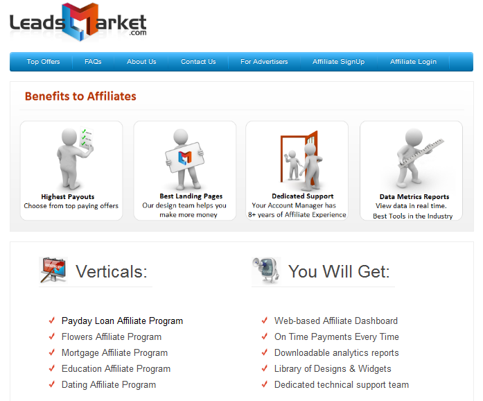 LeadsMarket Payday Loan Affiliate Program Review