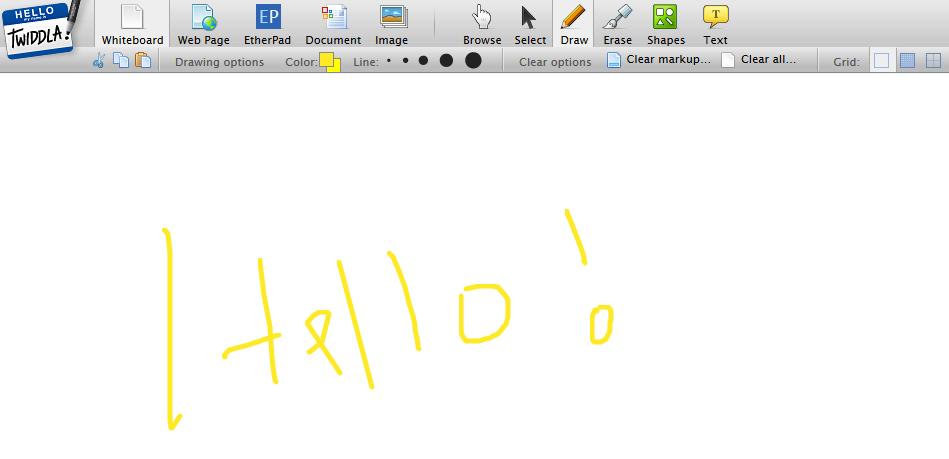 Hello whiteboard